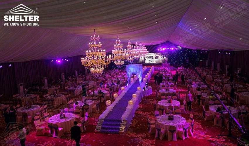 wedding marquees - Shelter Party tent for sale-party marquee 10x27m white tent-pvc tent for private party 04 (2)