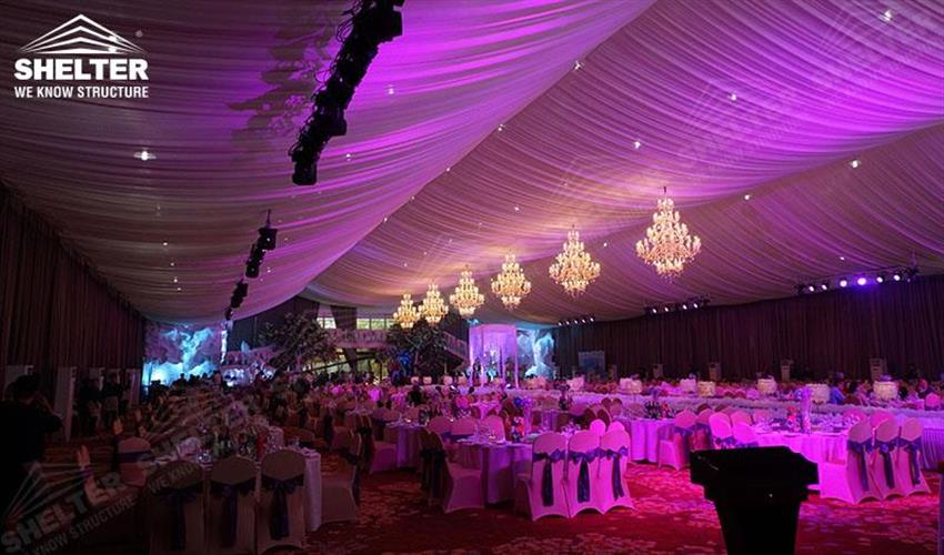 wedding marquees - Shelter Party tent for sale-party marquee 10x27m white tent-pvc tent for private party 04 (4)