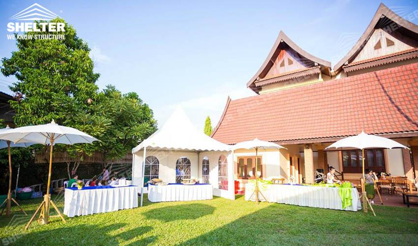 private party canopy - small marquee - home gathering tent - outdoor catering marquees - Shelter Party tent for sale-party marquee 4x4m white tent-pvc tent for private party 01_Jc
