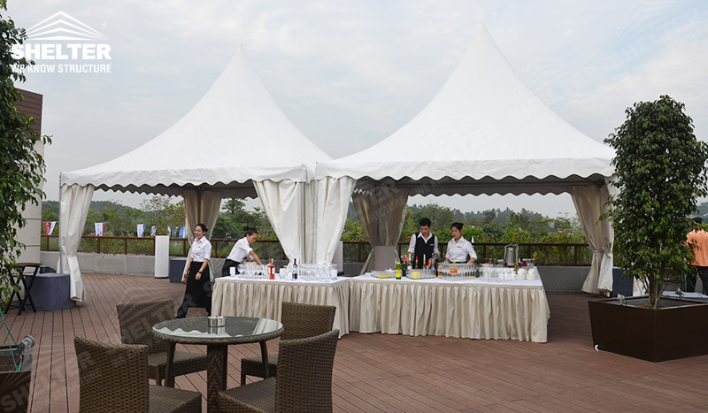 gazebo event canopy - buffect tents- outdoor catering marquee - Shelter event gazebo for sale 1