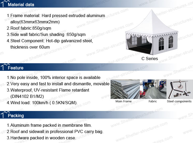 specification of gazebo tent - pagoda tents - small marquee