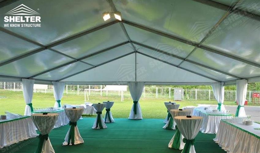 10x24 small wedding gathering - Ukraine wedding marquees - wedding receptions - pure white wedding tent - Shelter grass wedding canopy for sale (1)