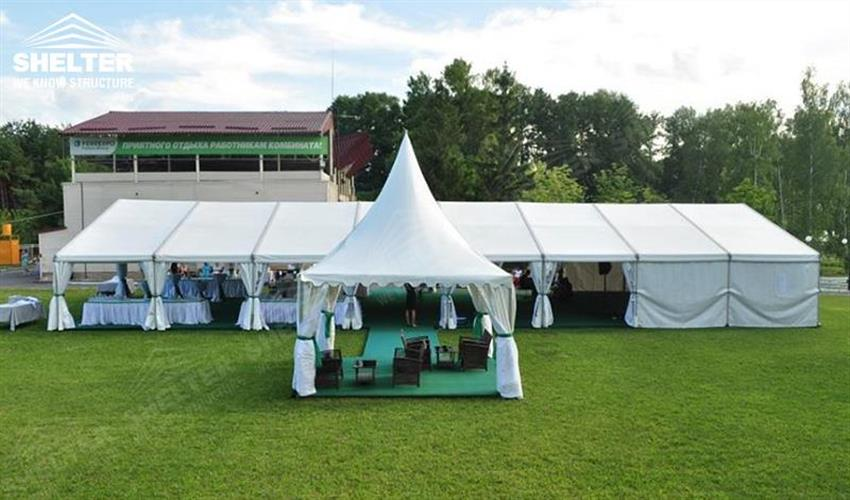 10x24 small wedding gathering - Ukraine wedding marquees - wedding receptions - pure white wedding tent : lawn canopy - memphite.com