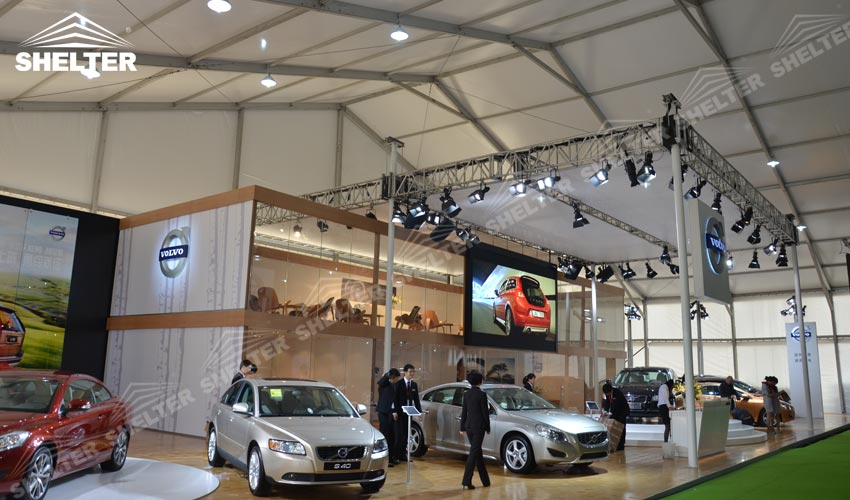 exhibition-tent-event-marquee-car-show-tents-shelter- & Event Tent for Large Car Show or New Design Release Press Conference