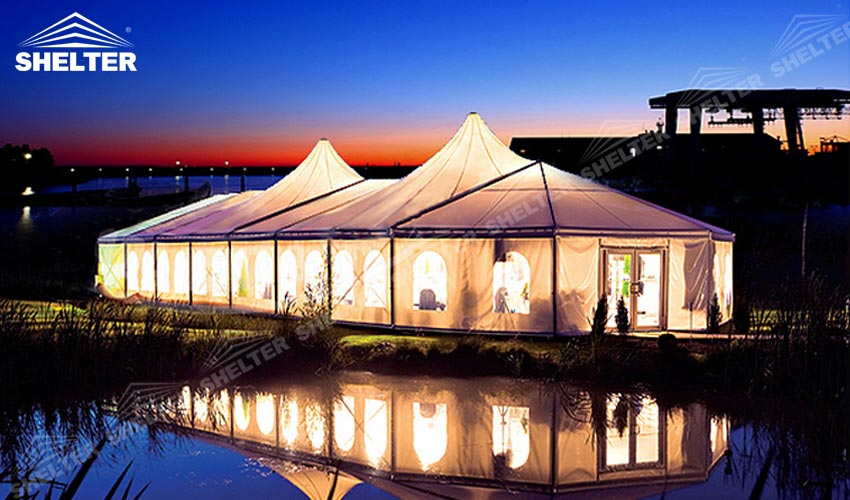 Mixed Party Tent Marquee For Grand Wedding Prom Party