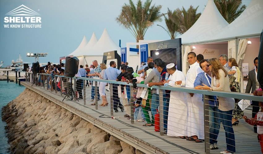 shade tents - Qatar International Boat Show (QIBS) - temporary structure for souvenir sales booth - pagoda tents - gazebo tent - Shelter small marquee for sale (4gdgfh)_Jc (1)