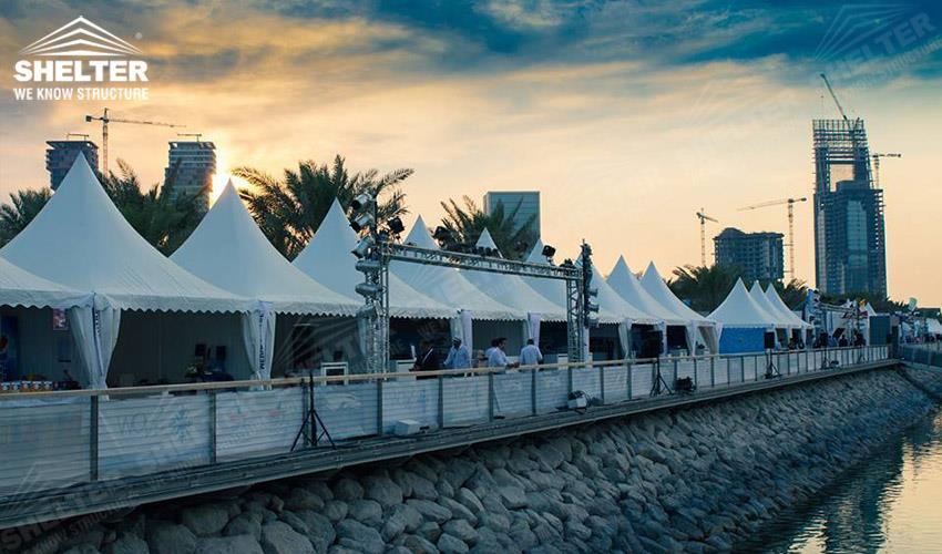 shade tents - Qatar International Boat Show (QIBS) - temporary structure for souvenir sales booth - pagoda tents - gazebo tent - Shelter small marquee for sale (4gdgfh)_Jc (3)