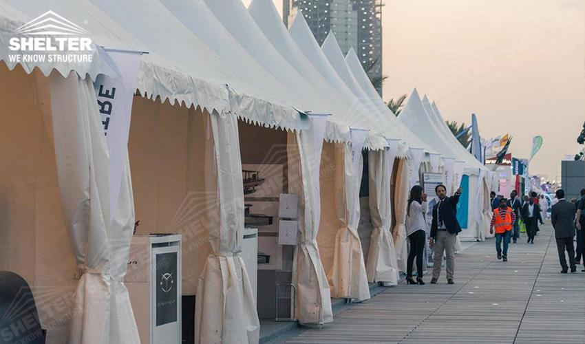 shade tents - Qatar International Boat Show (QIBS) - temporary structure for souvenir sales booth - pagoda tents - gazebo tent - Shelter small marquee for sale (4gdgfh)_Jc (4)