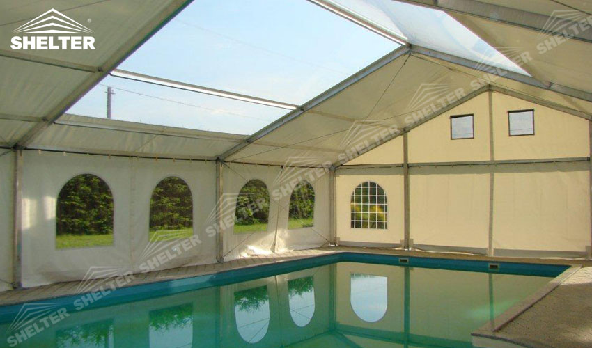 swimming pool canopy - sports event tents - large exhibiton marquee - outdoor event marquees - Shelter white tent for sale (9)