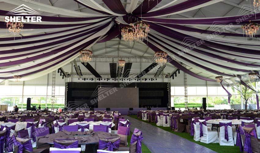 banquet tent - wedding marquees - outdoor wedding tents - party tent - Shelter exhibition marquee & Sun-blocking Banquet Tent with Luxury Decorations for Sale | India