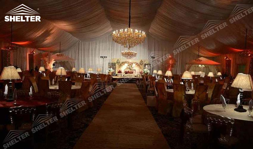 marquee wedding - wedding marquees - outdoor wedding tents - party tent - Shelter exhibition marquee & Marquee with Luxury Decorations For Garden Wedding |Sale in New Delhi