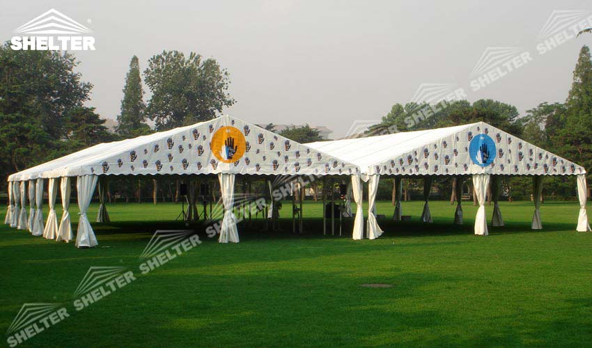 10 x 30 tent - wedding marquees - outdoor wedding tents - party tent - Shelter & Two 10 x 30 Tent Linked To Make Larger Space for Wedding | Sale