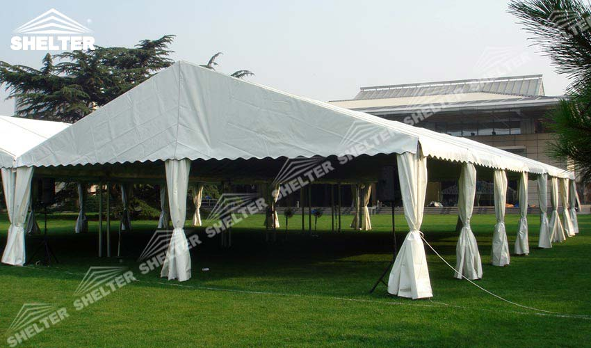 Two 10 X 30 Tent Linked To Make Larger Space For Wedding