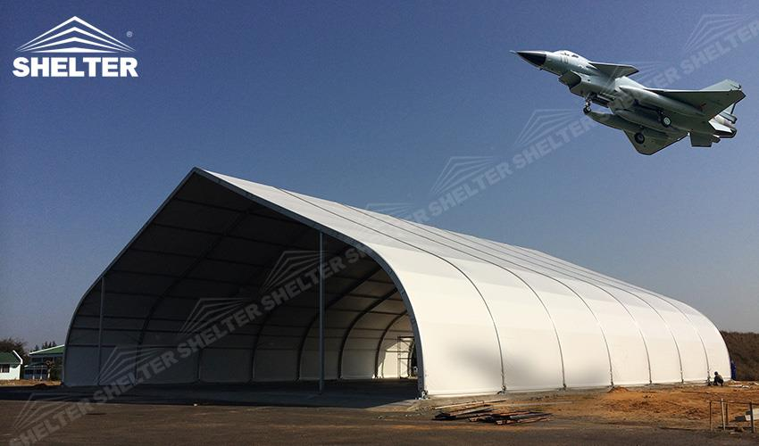 Tension Fabric Structures : Custom size for your private plane hangar sales in qatar