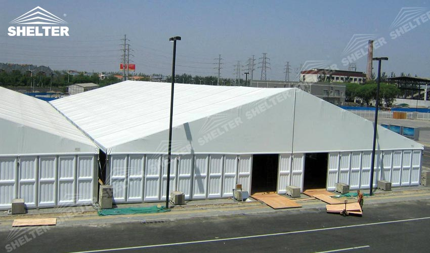 warehouse tent - industrial tent - SHELTER temporary warehouse building - large storage tent - military & 30x60m Warehouse Tent with ABS Wall | Sale in Indonesia Laos