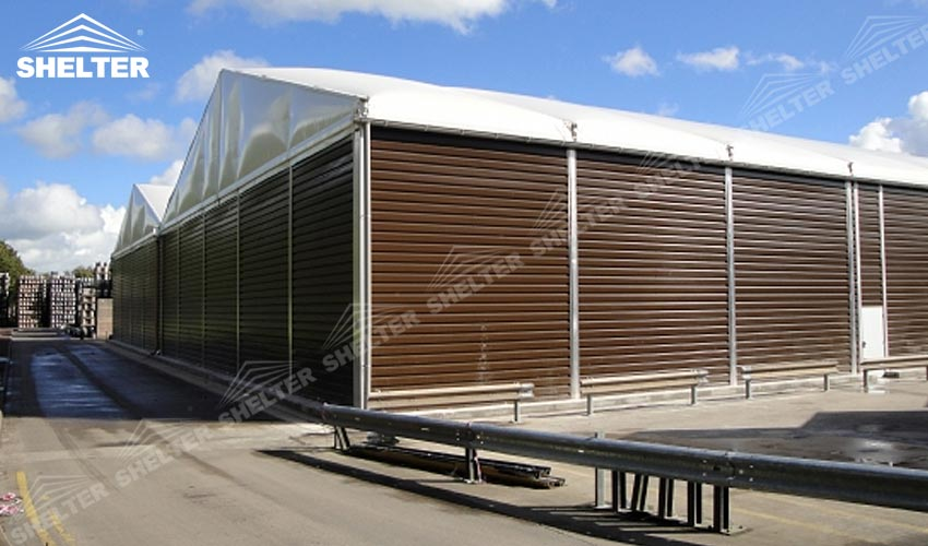 Temporary Industrial Shelters : Industrial tent for factory warehouse sale in cambodia laos