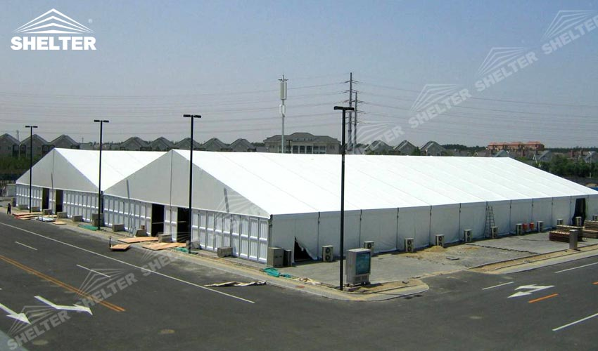 Industrial Temporary Shelters : M temporary military warehouse for industrial storage