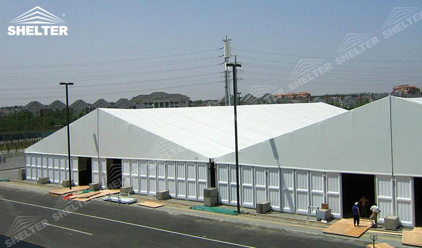 Temporary Construction Shelters : M temporary military warehouse for industrial storage