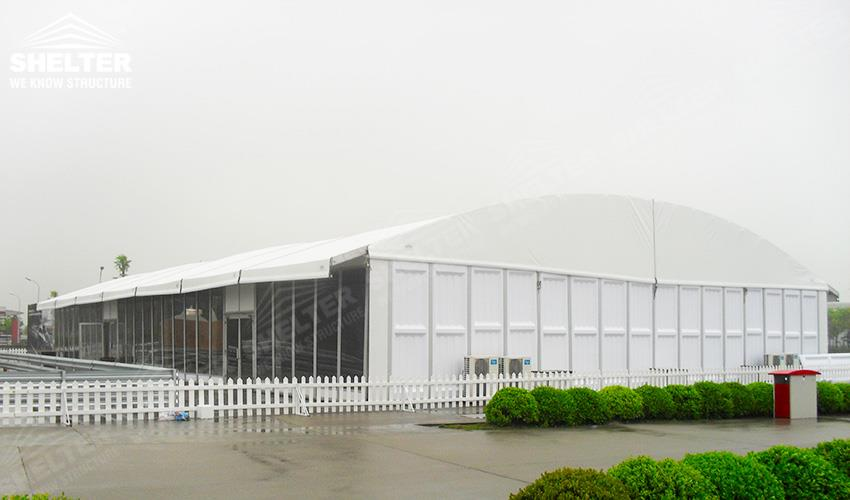 Aluminum Shelters Canopies : Water proof arcum tents with glass wall for car display