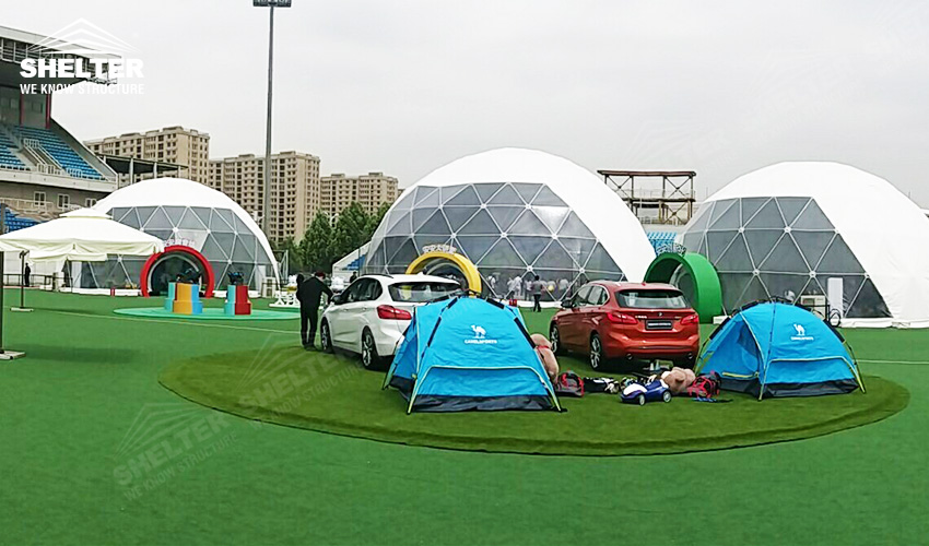 geodesic tent - dome tent- exhibition marquee - sphere event canopy - BMW Children's Traffic Safety Education Camp (1)