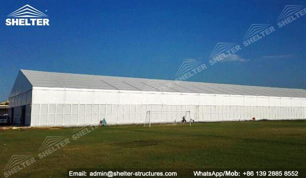 temporary warehouse structures - insulated warehouse structures - warehouse constructor - temporary building for industrial storage & Temporary Warehouse Structures with Sandwich Panel - Alu Tent ...