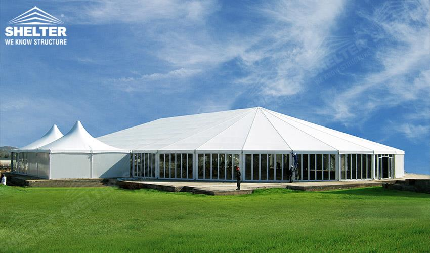 Large Scale White Tent Marquee For Wedding Party Ceremony