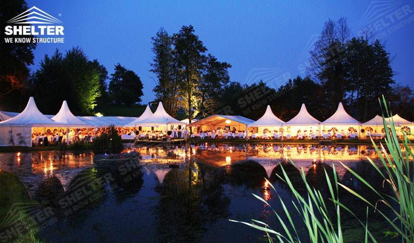 large party tent - mixed party tents - large wedding marquees - gazebo tent - classic a roof marquee - Shleter aluminum party structures for sale (11)