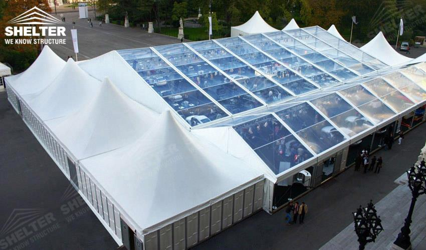 clear span tent - mixed party tents - large wedding marquees - gazebo tent - classic a roof marquee - Shleter aluminum party structures for sale (18)