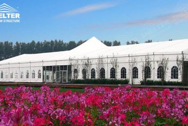 mega tent - mixed party tents - large wedding marquees - gazebo tent - classic a roof marquee - Shleter aluminum party structures for sale (8)