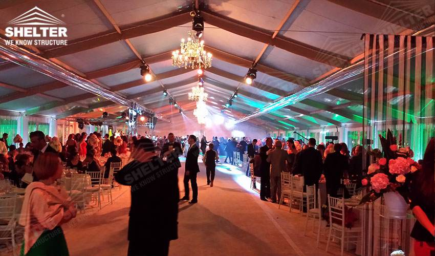 grand wedding marquee - party tents - company gaterhing tents - brand promotion event marquee - marquees for annual party- anniversary-birthday- product launch - Shelter aluminum structures for sale (8)