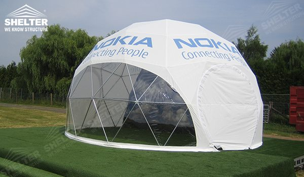 Shelter Dome Tent : Geodesic dome tent eye catching design for outdoor promotion