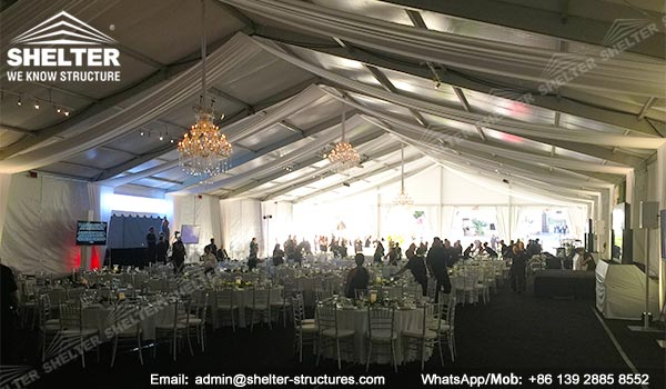 banquet marquee - temporary catering event hall for annual fundraising dinner - auction tents - Shelter clear span marquee for sale (1)