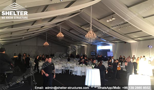 banquet marquee - temporary catering event hall for annual fundraising dinner - auction tents - Shelter clear span marquee for sale (2)