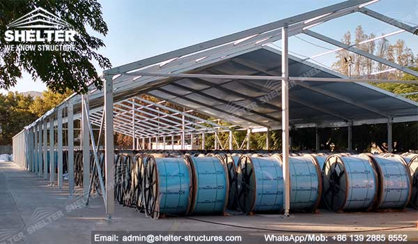 warehouse hall - temporary semi permanent storage building solutions - roofing strucutres - prefab tent warehouse - modular storage for sale (1)