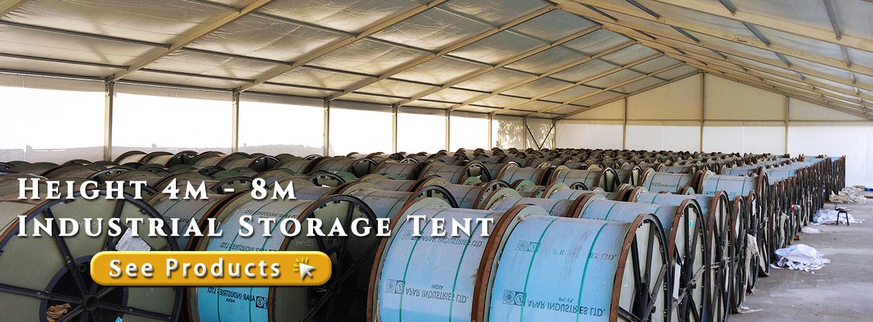 4m - 8m Height Fabric Structures for Temporary Storage Tent