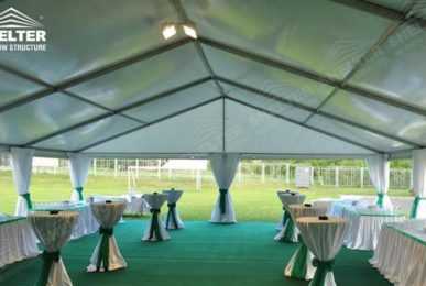 party tent - 10x24 small wedding gathering - Ukraine wedding marquees - wedding receptions - pure white wedding tent - Shelter grass wedding canopy for sale (1)