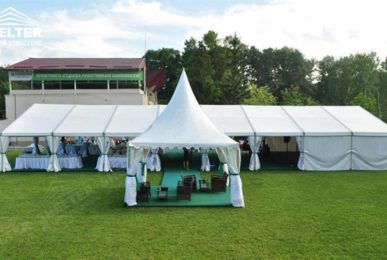 party tent - 10x24 small wedding gathering - Ukraine wedding marquees - wedding receptions - pure white wedding tent - Shelter grass wedding canopy for sale (3)