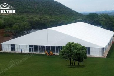 arched tent warehouse - warehouse structrues - storage building - warehouse hall - aluminum warehouse structure - curve tent - arcum tent - arch roof tents - custom design marquee - wedding maruqees - Tent canopy for promotion - Shelter aluminum structures for Sale (10)