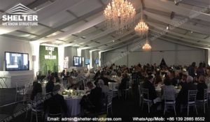 banquet marquee - temporary catering event hall for annual fundraising dinner - auction tents - Shelter clear span marquee for sale (3)